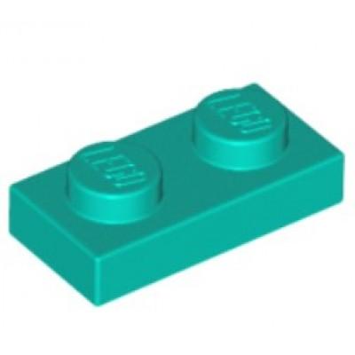 LEGO 1 X 2 Plate Dark Turquoise