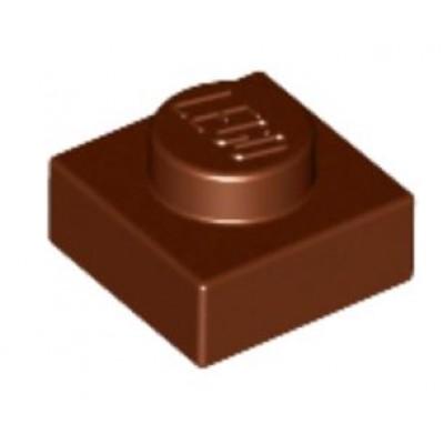 LEGO 1 x 1 Plate Reddish Brown