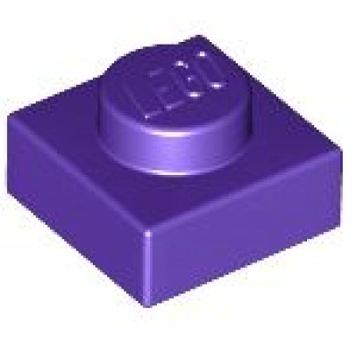 LEGO 1 x 1 Plate Dark Purple