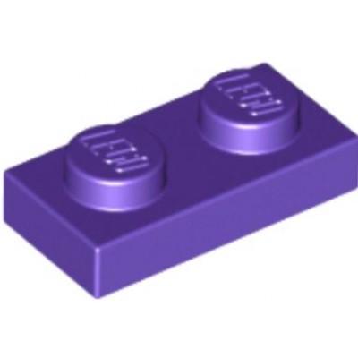 LEGO 1 x 2 Plate Dark Purple
