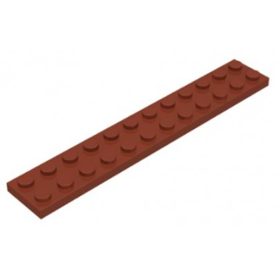 LEGO 2 x 12 Plate Reddish Brown
