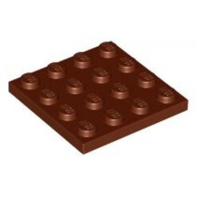 LEGO 4 x 4 Plate Reddish Brown