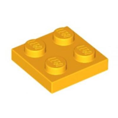 LEGO 2 x 2 Plate Bright Light Orange