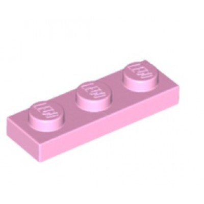 LEGO 1 x 3 Plate - Bright Pink