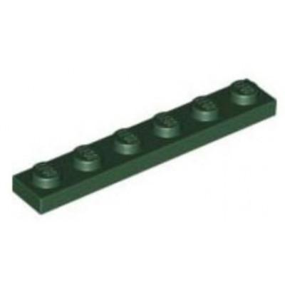 LEGO 1 x 6 Plate Dark Green