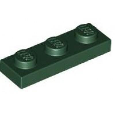 LEGO 1 x 3 Plate Dark Green