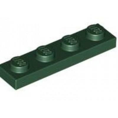 LEGO 1 X 4 Plate Dark Green
