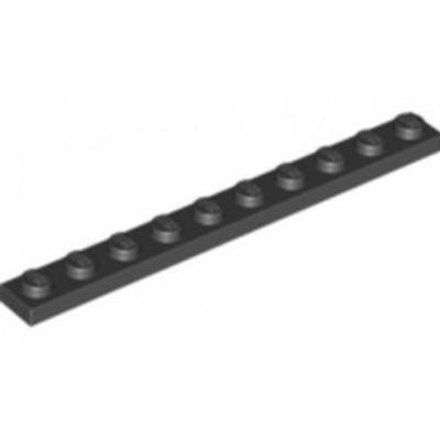 LEGO 1 x 10 Plate Dark Bluish Grey