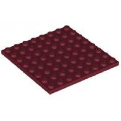 LEGO 8 x 8 Plate Dark Red