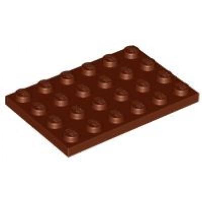 LEGO 4 x 6 Plate Reddish Brown