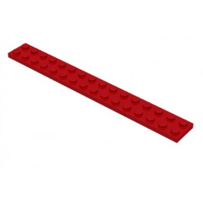 LEGO 2 x 16 Plate Red