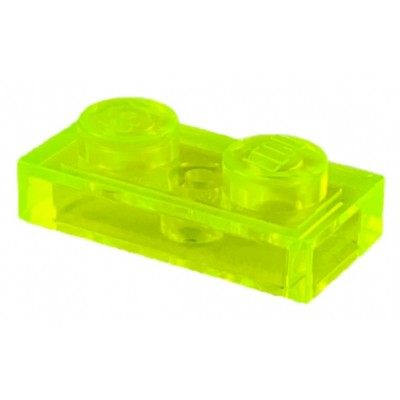 LEGO 1 x 2 Plate Trans Neon-Green