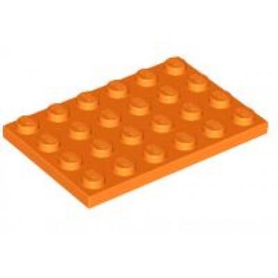 LEGO 4 x 6 Plate Orange
