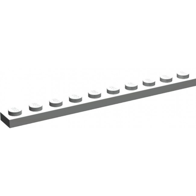 LEGO 1 x 10 Plate White