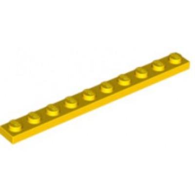 LEGO 1 x 10 Plate Yellow