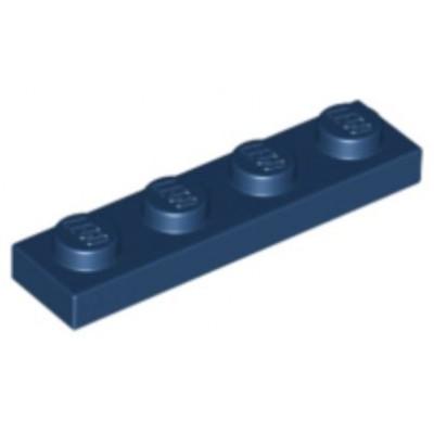 LEGO 1 x 4 Plate Dark Blue