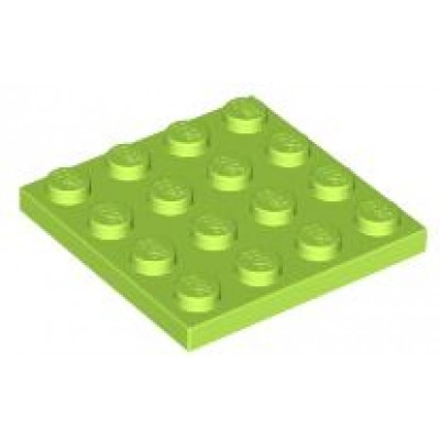 LEGO 4 x 4 Plate Lime