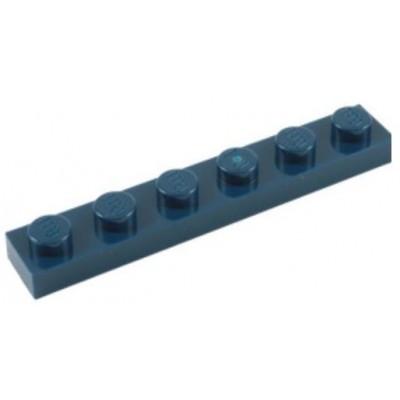 LEGO 1 x 6 Plate Dark Blue