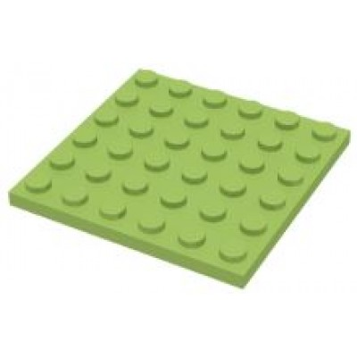 LEGO 6 x 6 Plate Lime