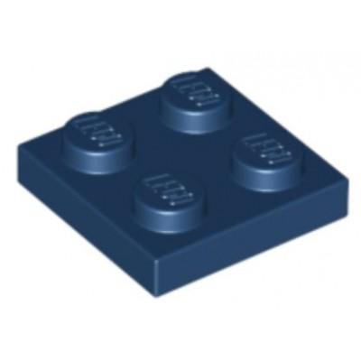 LEGO 2 x 2 Plate Dark Blue