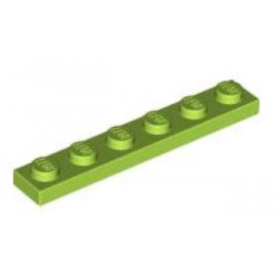 LEGO 1 x 6 Plate Lime