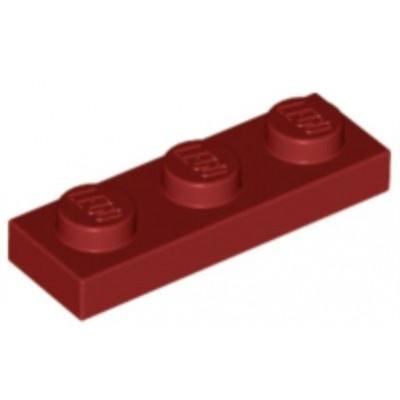 LEGO 1 x 3 Plate Dark Red