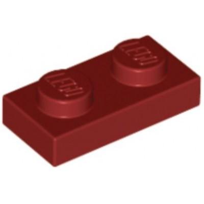 LEGO 1 x 2 Plate Dark Red