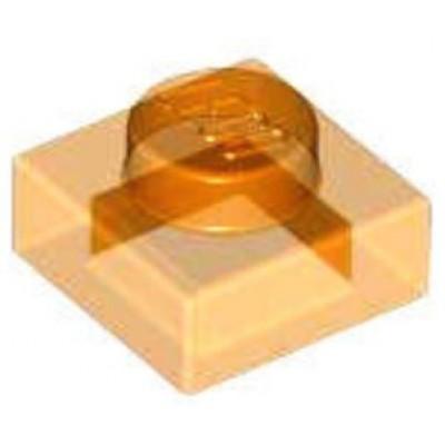 LEGO 1 x 1 Plate Transparent Orange
