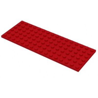 LEGO 6 x 16 Plate Red