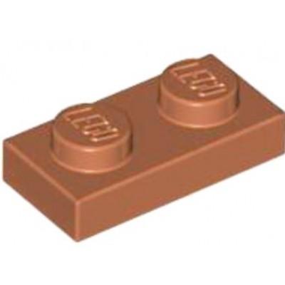 LEGO 1 x 2 Plate Dark Orange
