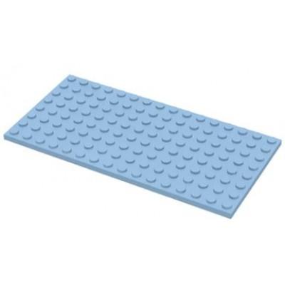 LEGO 8 x 16 Plate Bright Light Blue