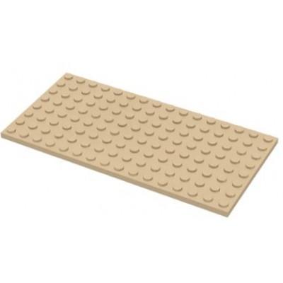 LEGO 8 x 16 Plate Tan