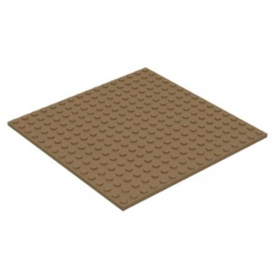 LEGO 16 x 16 Plate Dark Tan