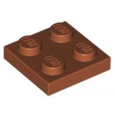 LEGO 2 x 2 Plate Dark Orange