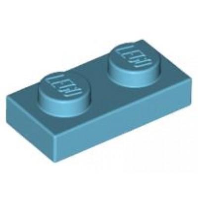 LEGO 1 x 2 Plate Medium Azure