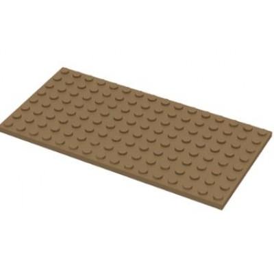 LEGO 8 x 16 Plate Dark Tan