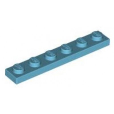 LEGO 1 x 6 Plate Medium Azure