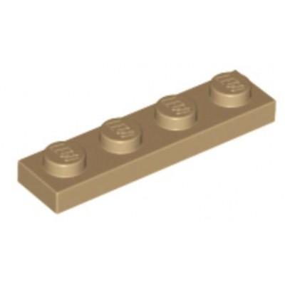 LEGO 1 x 4 Plate Dark Tan