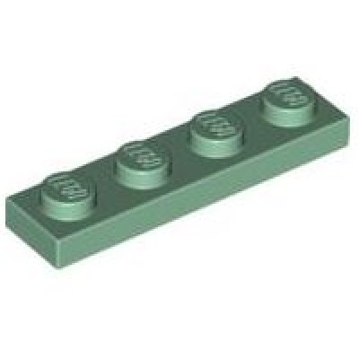 LEGO 1 x 4 Plate Sand Green