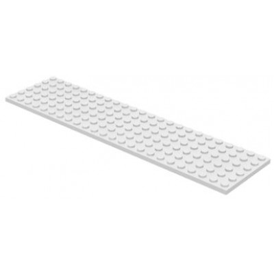 LEGO 6 x 24 Plate White