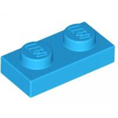 LEGO 1 x 2 Plate Dark Azure