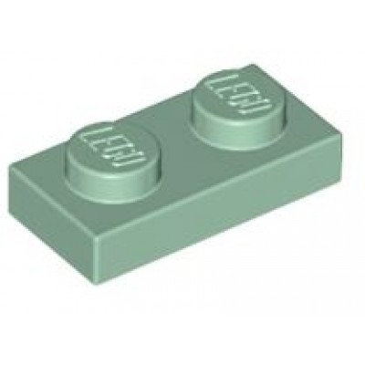 LEGO 1 x 2 Plate Sand Green