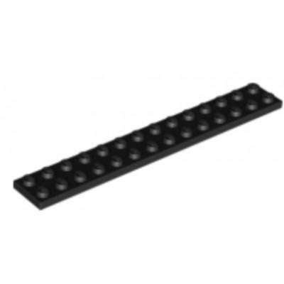 LEGO 2 x 14 Plate Black