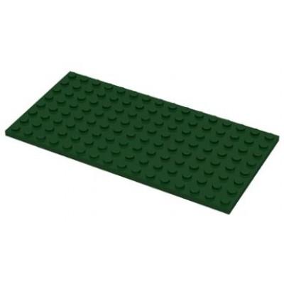 LEGO 8 x 16 Plate Dark Green