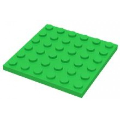 LEGO 6 x 6 Plate Bright Green