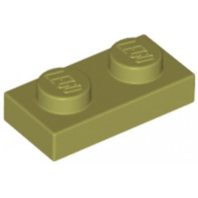 LEGO 1 x 2 Plate Olive Green