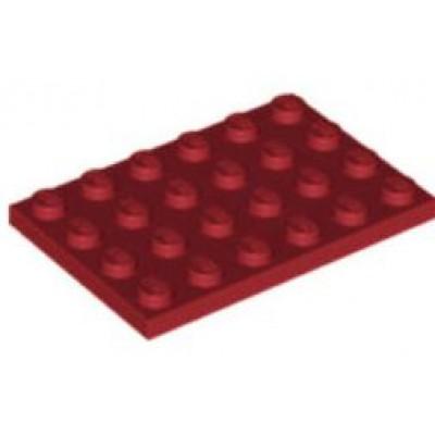 LEGO 4 x 6 Plate Dark Red