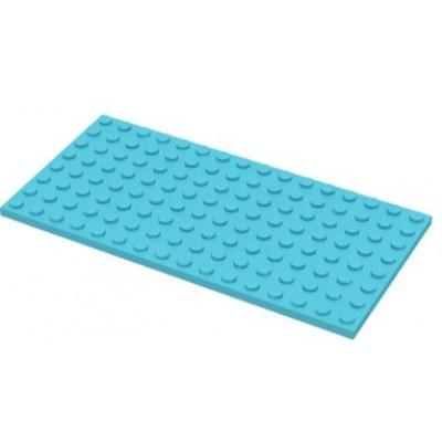 LEGO 8 x 16 Plate Medium Azure