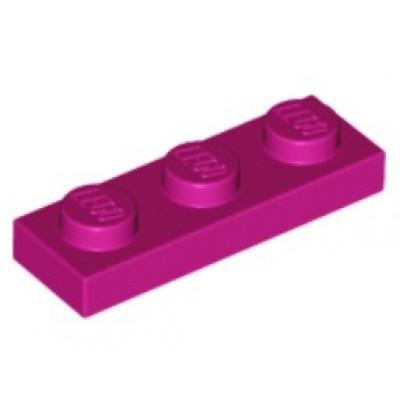 LEGO 1 x 3 Plate Magenta