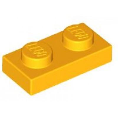 LEGO 1 x 2 Plate Bright Light Orange